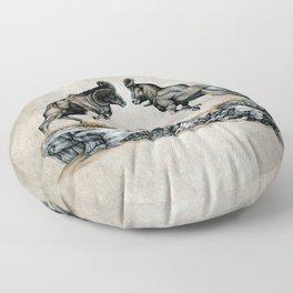Fighting Bighorn Sheep Rams Floor Pillow