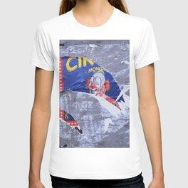 ripped clown circus poster texture T-shirt