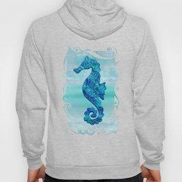 Blue Seahorse Couple Underwater Hoody