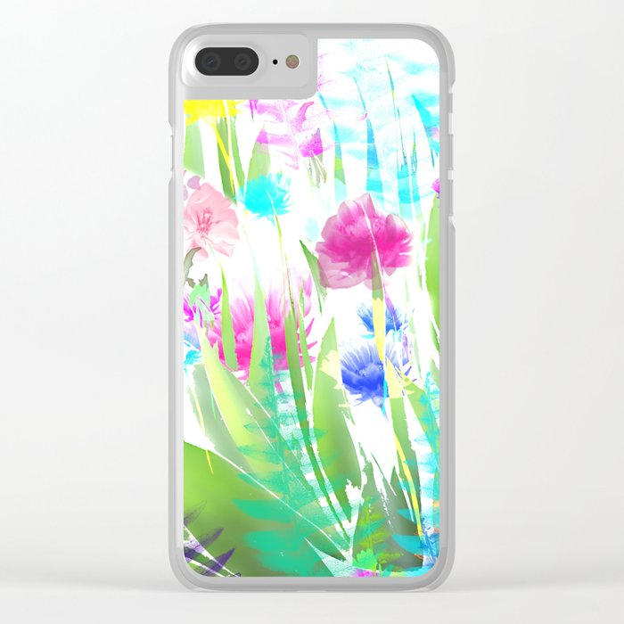 Floral abstract 82 Clear iPhone Case