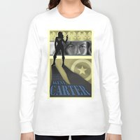 agent carter Long Sleeve T-shirts featuring Agent Carter Pop art by rnlaing