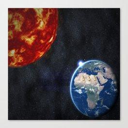 Sun, Ankh, Earth, Stars. Canvas Print