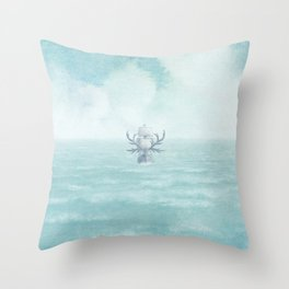 The Antlered Ship - Title Page Throw Pillow