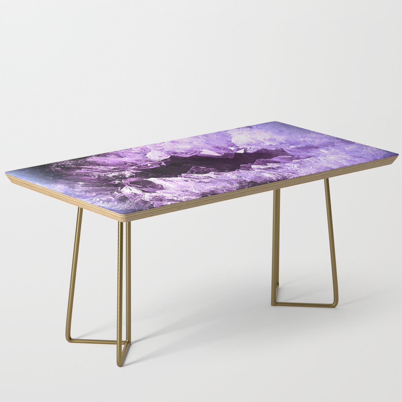 Amethyst Crystal Cave Coffee Table By Yeyes69