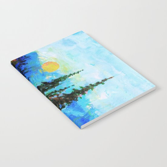 Mountain Blues Painting Notebook