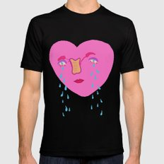 happy v-day Mens Fitted Tee Black LARGE