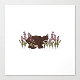 Fireweed Bear Canvas Print