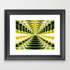 Abstract.Green,Yellow,Black,White,Lime. Framed Art Print