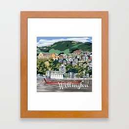 Wellington Harbour, NZ Framed Art Print