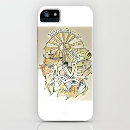 Never Give Up iPhone Case