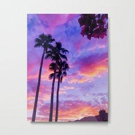 PS Sunset and Bouganvilla Metal Print