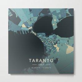 Taranto, Italy - Cream Blue Metal Print