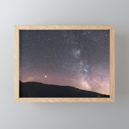 Mars and the Milky Way | Nature and Landscape Photography Framed Mini Art Print