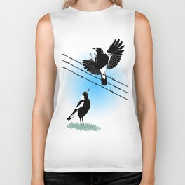 Magpies: learn to fly Biker Tank