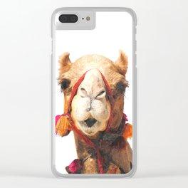 Camel Portrait Clear iPhone Case
