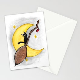 Witch's Broom Stationery Cards