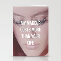 makeup Stationery Cards featuring Makeup by ewwidc