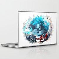 godzilla Laptop & iPad Skins featuring Godzilla by Sa-Dui