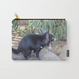 Tasmanian Devil asserting dominance on a rock Carry-All Pouch