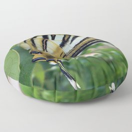 Swallowtail With Partially Closed Wings Side View Floor Pillow