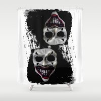 psycho Shower Curtains featuring psycho by arTistn