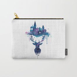 Always - Magical Deer in a Wizard World in watercolor Carry-All Pouch