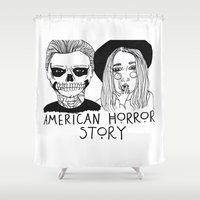 cactei Shower Curtains featuring AHS by ☿ cactei ☿