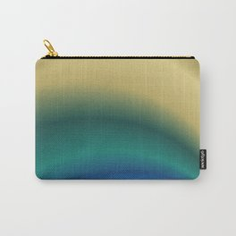 Abstract in Cream and Teal Carry-All Pouch