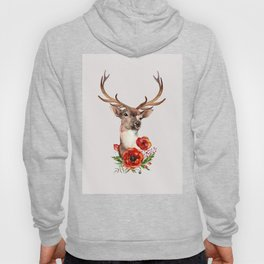 Deer with flowers 2 Hoody