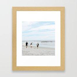 Three Dudes Framed Art Print