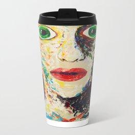 Green Eyes Metal Travel Mug