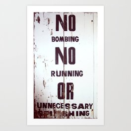 Behave Art Print