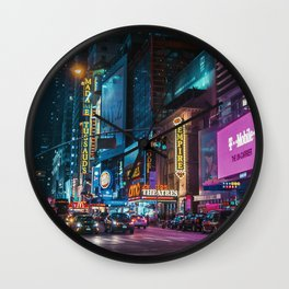 Colorful New York Empire Wall Clock