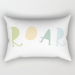 Roar - Greens and Blues Rectangular Pillow