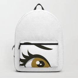 Flirty Wink | Hazel Eyes Backpack