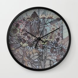 Bouquet Collector Wall Clock