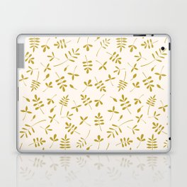 Gold Leaves Design on Cream Laptop & iPad Skin