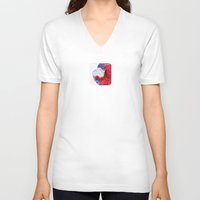 religious V-neck T-shirts featuring LOVE AND MUG by UtArt