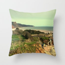Sidmouth Seascape Throw Pillow