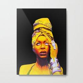 Erykah Badu Painting Metal Print