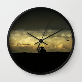 The Deep Breath Before The Plunge (Cropped) Wall Clock