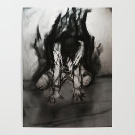 Dark Collapse (Charcoal Thoughts) Poster