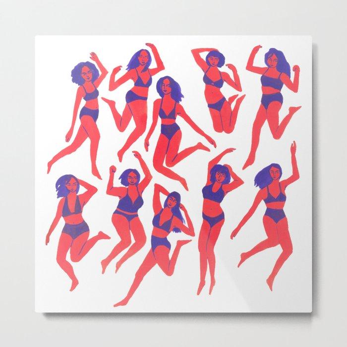 Underwear Dancing Metal Print