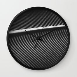 Elegant silver pigeon feather texture Wall Clock