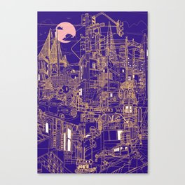 San Francisco! (Night) Canvas Print