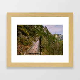 A day in the Alps Framed Art Print