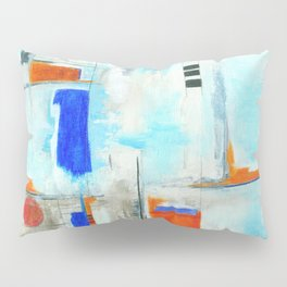 Nautical Intentions, Abstract Art Painting Pillow Sham