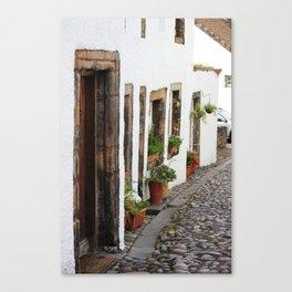 Cobbles of Culross Canvas Print