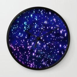 Blue Glow Wall Clock