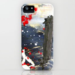 Exploding matchsticks   iPhone Case